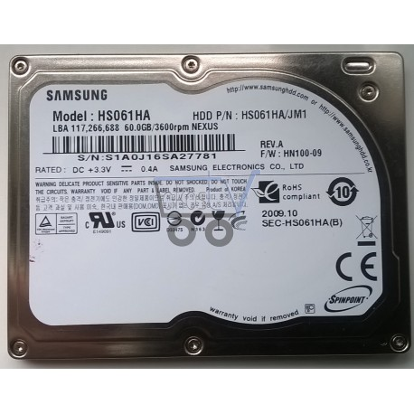 NEW SAMSUNG HS061HA 60GB/3600rpm for iPOD